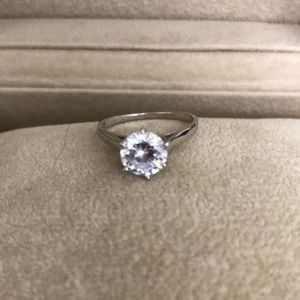 Jewelry - NWOT 925 Silver CZ Solitaire Ring